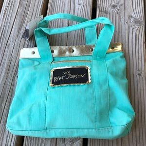 Tiffany Blue Betsey Johnson BNWT Lightweight Tote!